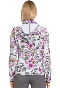 "HeartSoul HeartSoul Prints ""U Da Bom"" Zip Front Jacket in Patterns And Posies (HS301-PATS)"