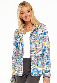 HeartSoul HeartSoul Prints Zip Front Jacket in Plaid About Me Babe (HS301-PLBB)