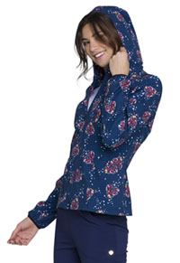 HeartSoul HeartSoul Prints Zip Front Jacket in Tropical Love (HS301-TRLO)