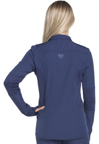 HeartSoul Break on Through Zip Front Warm-up Jacket in Navy (HS315-NAYH)
