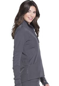 HeartSoul Break on Through Zip Front Warm-up Jacket in Pewter (HS315-PEWH)