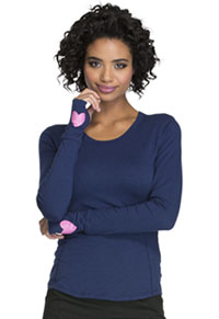 HeartSoul Heart To Heart Underscrub Knit Tee Navy (HS607-NAV)