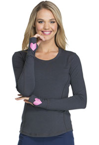 HeartSoul Heart To Heart Underscrub Knit Tee Pewter (HS607-PWT)