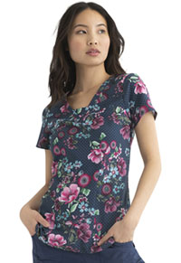 Heartsoul V-Neck Top Floral Fade Out (HS610-FOFD)