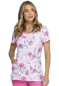 Heartsoul V-Neck Top Peaceful Peony (HS610-PLOY)