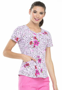HeartSoul HeartSoul Prints Sweetheart Neck Top in Reaching For The Stars (HS616-RESS)