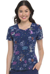 HeartSoul Prints Sweetheart Neck Top (HS616-STHD) (HS616-STHD)