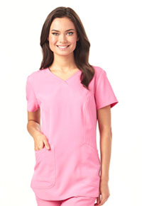Break on Through Mock Wrap Top (HS619-PNKH) (HS619-PNKH)