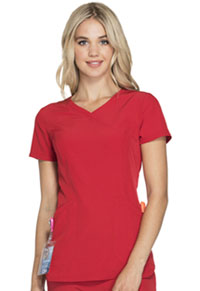 HeartSoul Cross My Heart Mock Wrap Top Red (HS619-RDHH)