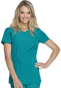 HeartSoul Cross My Heart Mock Wrap Top Teal Blue (HS619-TEAH)