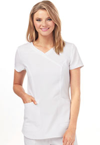 Break on Through Mock Wrap Top (HS619-WHIH) (HS619-WHIH)