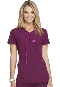 Break on Through Mock Wrap Top (HS619-WINH) (HS619-WINH)