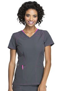 Break on Through V-Neck Top (HS620-WHPG) (HS620-WHPG)