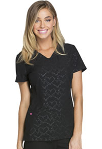 HeartSoul Beat of My Heart V-Neck Top Beat Of My Heart Black (HS627-BTBK)