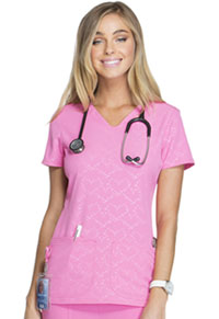 HeartSoul Beat of My Heart V-Neck Top Beat Of My Heart Pink Party (HS627-BTPY)