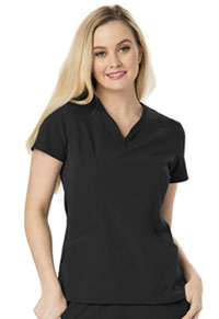 Heart Zips A Beat V-Neck Top (HS650-BCKH)