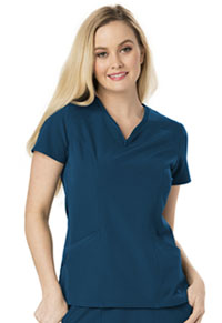 HeartSoul Heart Zips A Beat V-Neck Top Caribbean Blue (HS650-CABH)