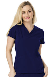 Heart Zips A Beat V-Neck Top (HS650-NAYH)