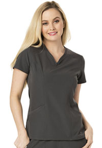 HeartSoul Heart Zips A Beat V-Neck Top Pewter (HS650-PEWH)