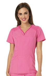 HeartSoul Heart Zips A Beat V-Neck Top Pink Party (HS650-PNKH)