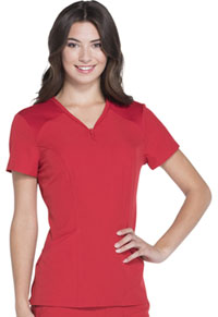 Heart Zips A Beat V-Neck Top (HS650-RDHH)