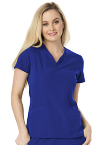 HeartSoul Heart Zips A Beat V-Neck Top Royal (HS650-ROYH)