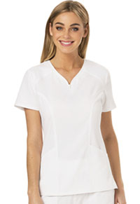HeartSoul Heart Zips A Beat V-Neck Top White (HS650-WHIH)