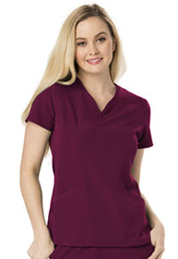 HeartSoul Heart Zips A Beat V-Neck Top Wine (HS650-WINH)