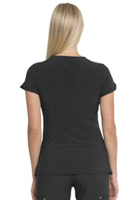 HeartSoul Love Always Zip Front V-Neck Top in Black (HS655-BAPS)