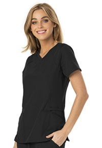 HeartSoul Break on Through V-Neck Top in Black (HS660-BCKH)