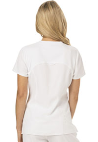 HeartSoul Break on Through V-Neck Top in White (HS660-WHIH)