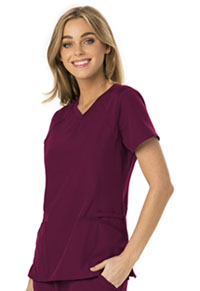 HeartSoul Break on Through V-Neck Top in Wine (HS660-WINH)