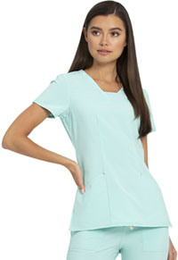 Heartsoul V-Neck Top Aqua Serene (HS665-AQSE)