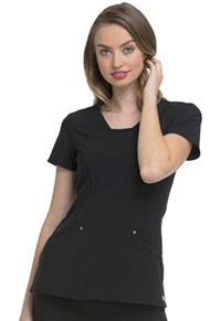 HeartSoul V-Neck Top Black (HS665-BAPS)