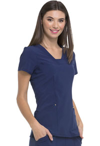 "HeartSoul Love Always ""Serenity"" V-Neck Top in Navy (HS665-NYPS)"