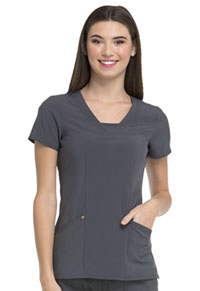 HeartSoul Serenity V-Neck Top Pewter (HS665-PWPS)
