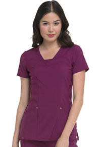 HeartSoul Serenity V-Neck Top Wine (HS665-WNPS)