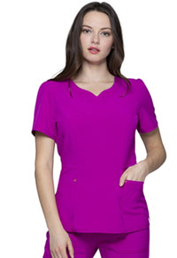 HeartSoul V-Neck Top Magic Magenta (HS670-MENA)