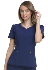HeartSoul Lovely V-Neck Top Navy (HS670-NYPS)