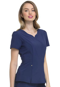 "HeartSoul Love Always ""Lovely"" V-Neck Top in Navy (HS670-NYPS)"