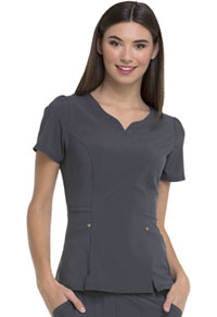 HeartSoul Lovely V-Neck Top Pewter (HS670-PWPS)