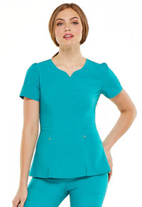 HeartSoul Lovely V-Neck Top Teal Blue (HS670-TLPS)
