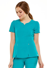HeartSoul Love Always V-Neck Top in Teal Blue (HS670-TLPS)