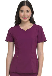 "HeartSoul Love Always ""Lovely"" V-Neck Top in Wine (HS670-WNPS)"