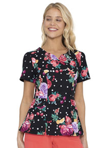 Heartsoul Shaped V-Neck Top Floral-Ever Fruity (HS671-FVFT)
