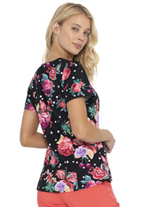 HeartSoul HeartSoul Prints Shaped V-Neck Top in Floral-Ever Fruity (HS671-FVFT)