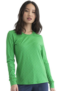 Heartsoul Underscrub Knit Tee Let's Polka Dot Kelly Green (HS672-LEKG)