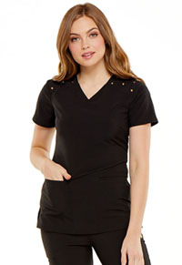 HeartSoul Heartfelt V-Neck Top Black (HS675-BAPS)