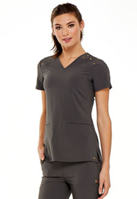 HeartSoul Love Always V-Neck Top in Pewter (HS675-PWPS)