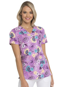 HeartSoul HeartSoul Prints V-Neck Top in Let's Garden Party (HS676-LEGP)